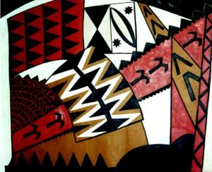 Figure 1: Vanya Taule'alo, Va tapuia, 2000, acrylic on canvas, 1800 x 1600mm
