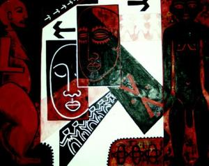 Figure 2: Vanya Taule'alo, Feagaiga, 2000, acrylic on canvas, 1800 x 1600mm